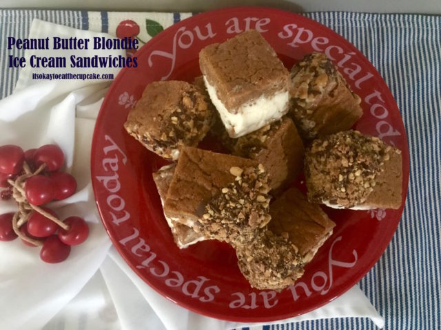 Peanut Butter Blondie Ice Cream Sandwiches 14